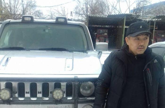 Водитель «Хаммера», ехавший по тротуару и требовавший от пешеходов уступить дорогу, оштрафован на 1 тыс. сомов <i>(фото)</i>