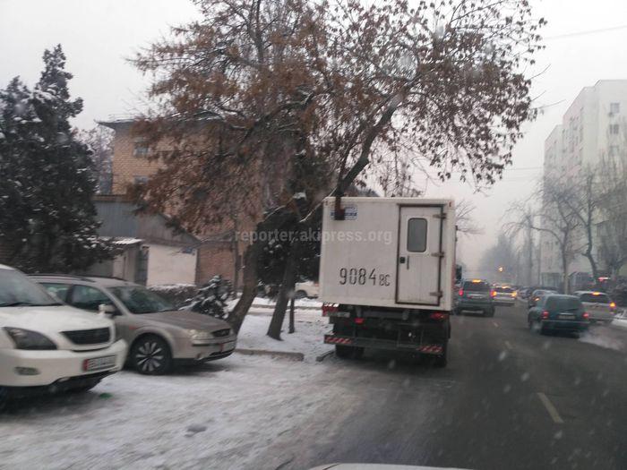 Читатель просит не парковать грузовое авто на проезжей части ул.Панфилова (фото)