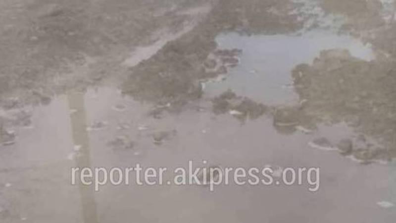 На улице Матросова в Беш-Кунгее снова прорвало водопроводную трубу (видео)