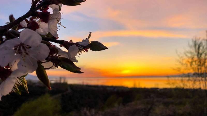 Красивый закат на Иссык-Куле. Фото читательницы Каухар