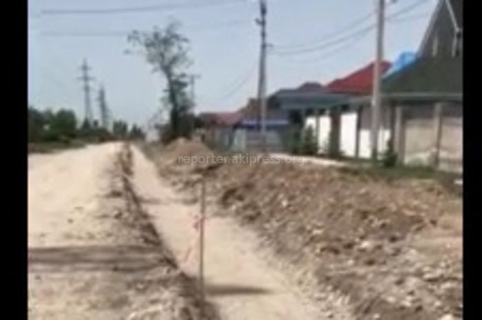 Мэрия Бишкека: Ремонт дороги в жилмассиве Киргизия-1 начнется после завершения газификации