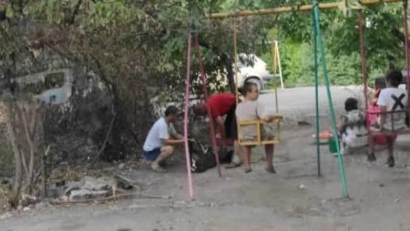 Во дворе дома в 6 мкр жители зарезали барана, - очевидец