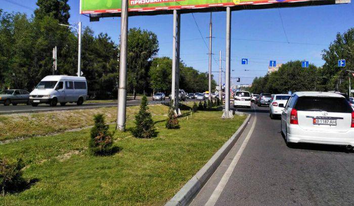 «Бишкекглавархитектура»: Участки под рекламные щиты на Байтик Баатыра-Токомбаева предоставлены в аренду