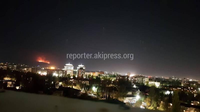 На окраине Бишкека горят холмы. <b>Фото</b>