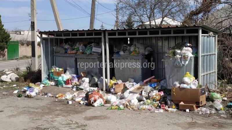 На улице Иманалиева селе Орто-Сай не хватает мусорных контейнеров