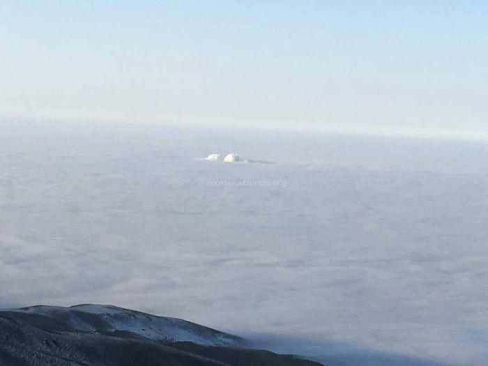 Фото – Туман над Бишкеком и его окрестностями