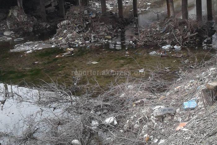 Чуйский канал превратился в мусорную свалку (фото)