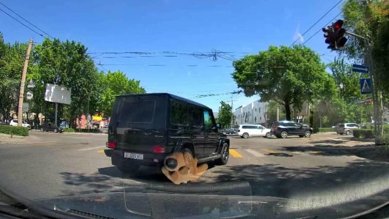 На ул.Киевской «Гелендваген» проехал на красный. Видео