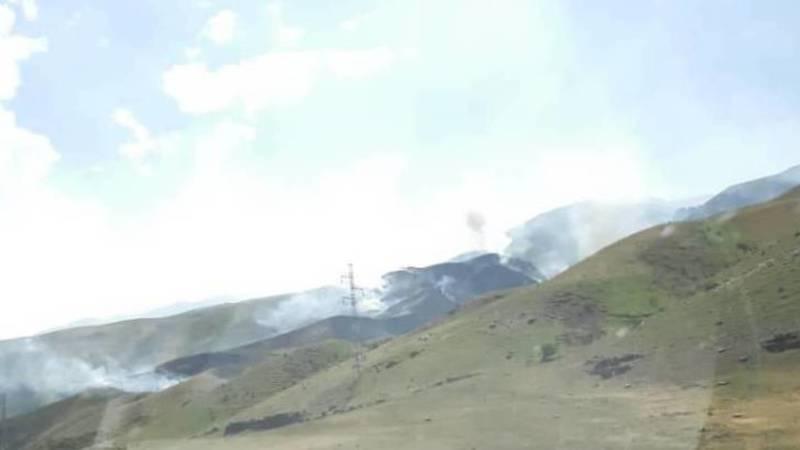 В горах близ села Сосновка был пожар. Фото