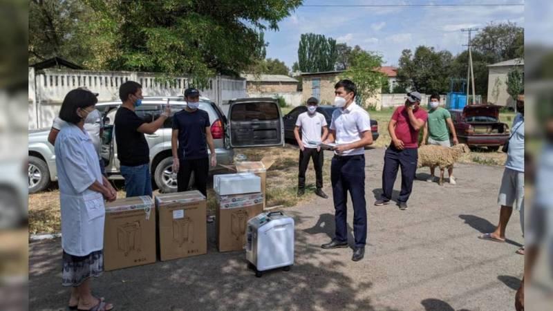 Молодежь села Алексеевка передала 4 кислородных концентратора в больницу Жайылского района