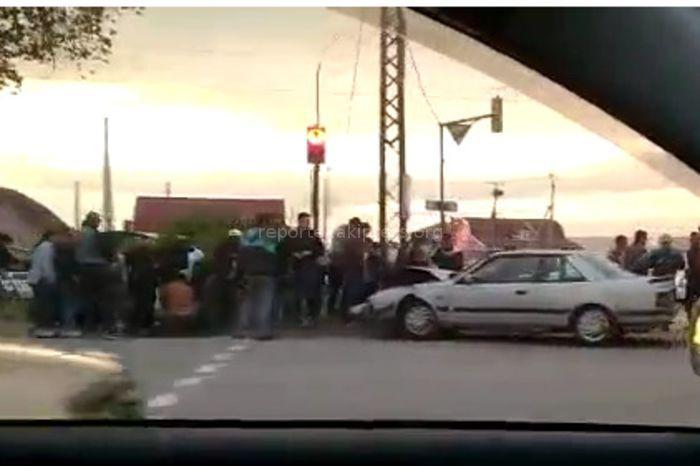 На участке ул.Анкара в Бишкеке произошло ДТП (видео)