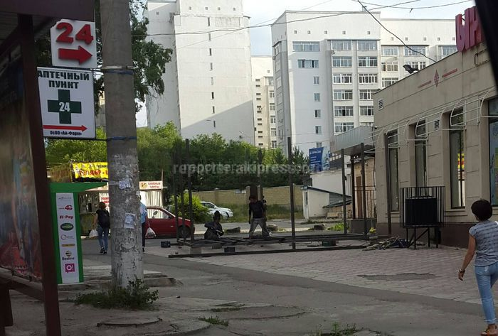 Разрешение на пристройку к маркету на участке ул.Юнусалиева не выдавалось