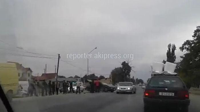 В селе Александровка произошло ДТП с участием трех машин <i>(видео)</i>