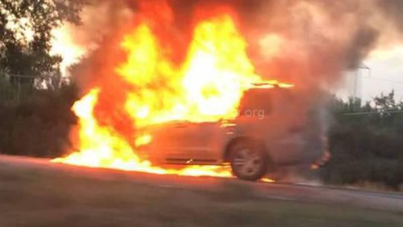 Видео, фото - На объездной дороге сгорел «Лексус»