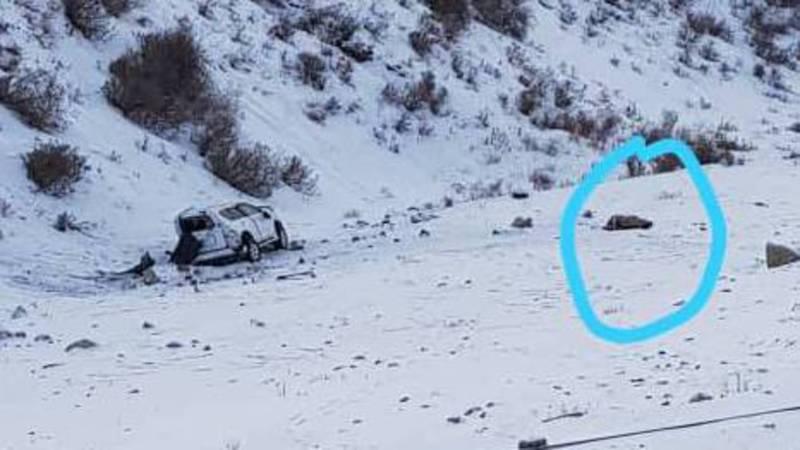 При спуске с горнолыжной базы Чункурчак перевернулся джип, водитель погиб (фото)