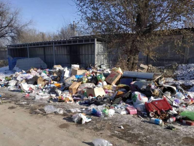 В жилмассиве Кара-Жыгач больше двух недель не вывозится мусор, жалуется местный житель
