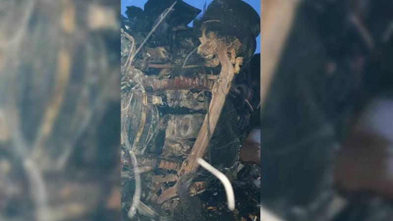 Два человека заживо сгорели в ДТП на Иссык-Куле. Видео