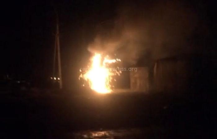 В трансформаторной подстанции в Ак-Ордо произошел пожар <i>(видео)</i>
