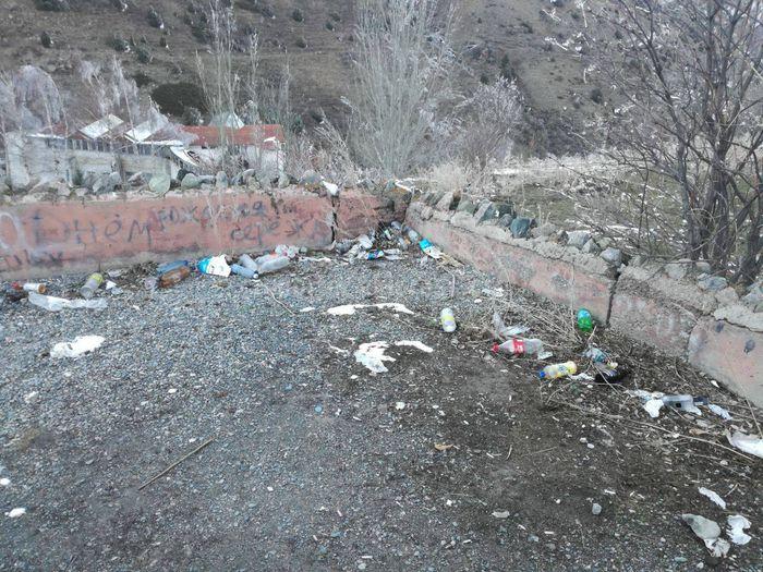 Посетитель просит очистить мусор на участке «Теплых ключей» Аламединского района (фото)