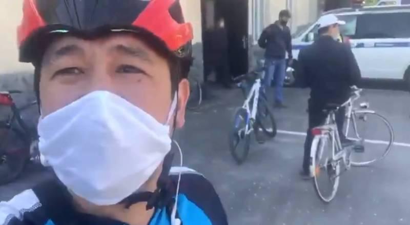 Милиция начала ловить велосипедистов в Бишкеке и отправлять их в РОВД