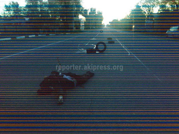 На объездной дороге в Бишкеке сбили пешехода. Он скончался <i>(осторожно, фото)</i>