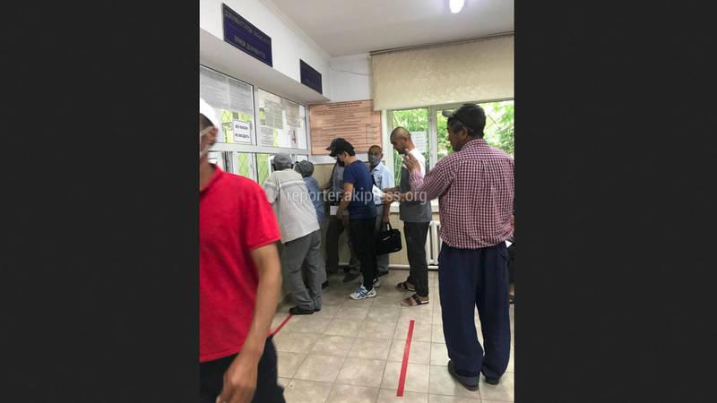 В госрегистре города Кант жители не соблюдают правила социального дистанцирования