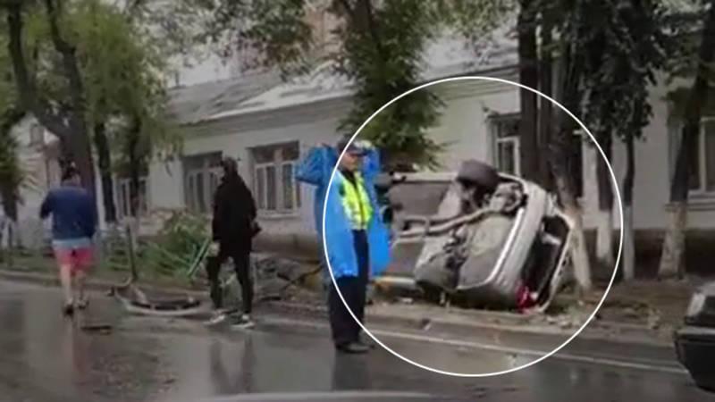 Авария на ул.Байтик Баатыра попала на видео