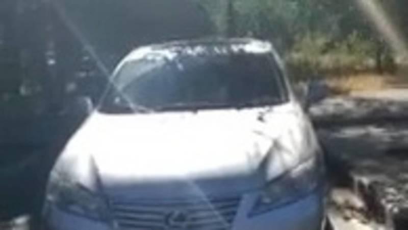 Горожанин припарковал свой Lexus на зебре. Видео