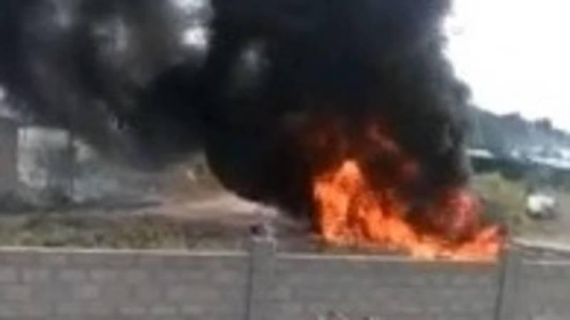 В селе Маевка произошел пожар. Видео очевидцев