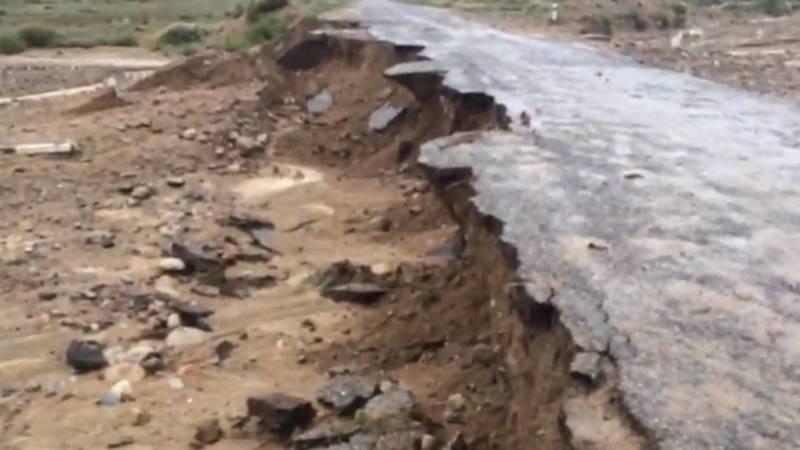 Состояние дороги на перевале Кескен-Бел после схода селей. Видео