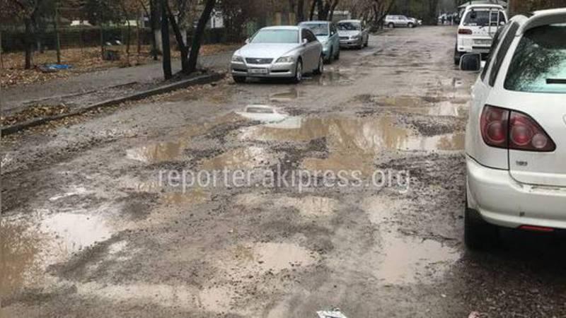 Ремонт дороги на ул.Чокморова продолжится после завершения работ теплосети, - «Бишкекасфальтсервис»