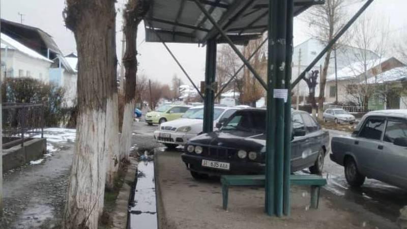 «Доска позора» в Оше. Нарушители правил парковки