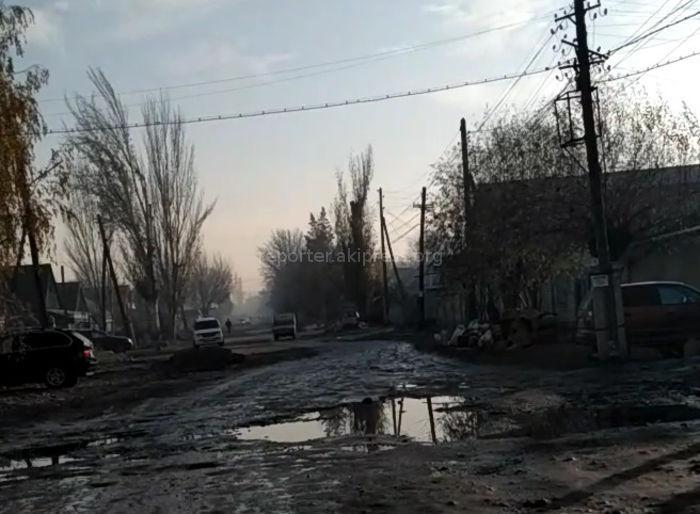 Щербакова көчөсүнүн күн батыш бөлүгүнүн ремонту кечендеп, көп ынгайсыздыктарды жаратууда, - Бишкек шаарынын тургуну
