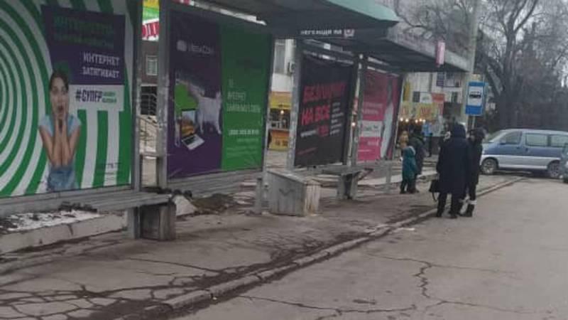 Остановка на ул.Юнусалиева очищена от припаркованных машин, - УПСМ