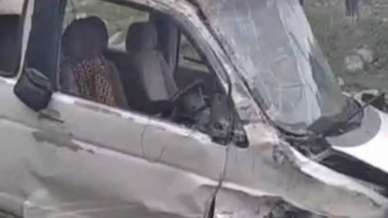 На трассе Бишкек-Ош произошло ДТП. Видео очевидца