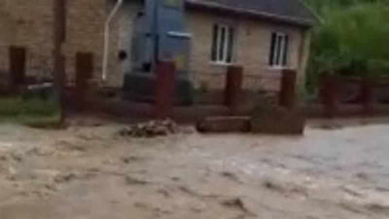В селе Кызыл-Туу сошли сели. Видео местной жительницы