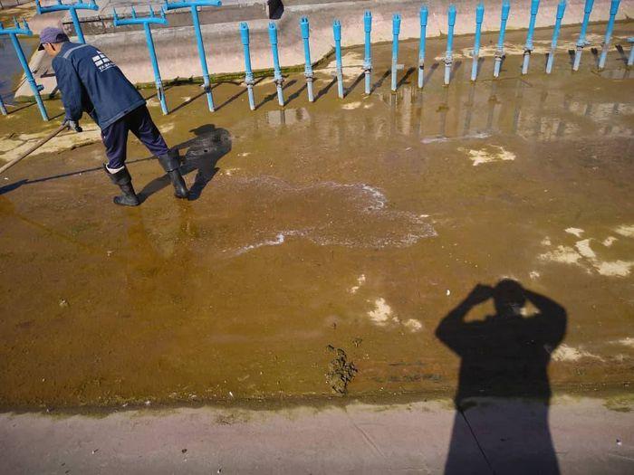 «Тазалык» регулярно проводит очистку фонтана возле Филармонии (фото)