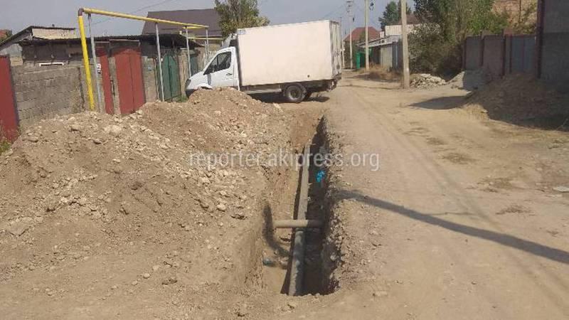 Когда закопают ямы на улице Шабдана в жилмассиве Арча-Бешик?