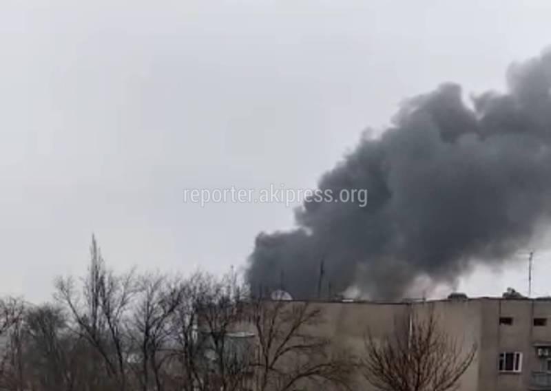 В доме в мкр Аламедин-1 произошел пожар