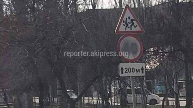 На ул.Жукеева-Пудовкина на дорожном знаке ограничения скорости стерта цифра «40» (фото)