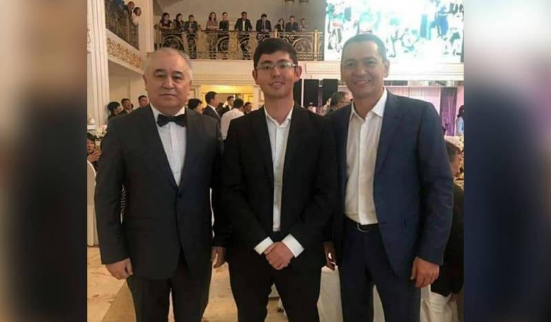 Фото — Сын Атамбаева вместе с Текебаевым и Бабановым на тое