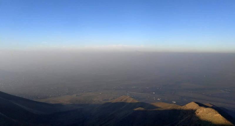 Смог над Бишкеком. Фото