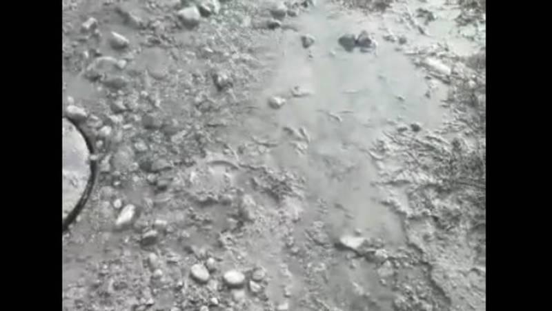 Житель просит устранить утечку питьевой воды в селе Достук