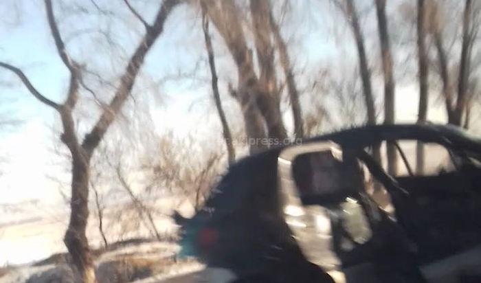 На автодороге близ поворота в село Маловодное произошло ДТП (видео)