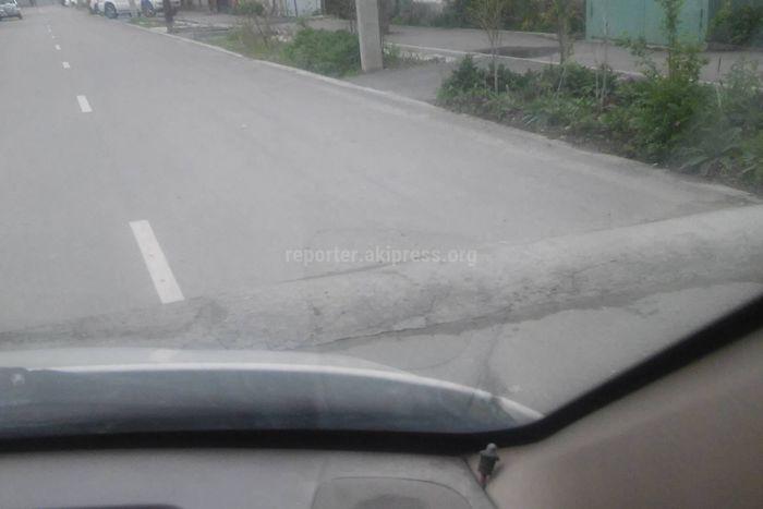 Законно ли установлены лежачие полицейские на ул.Джунусалиева №28? - читатель Алексей