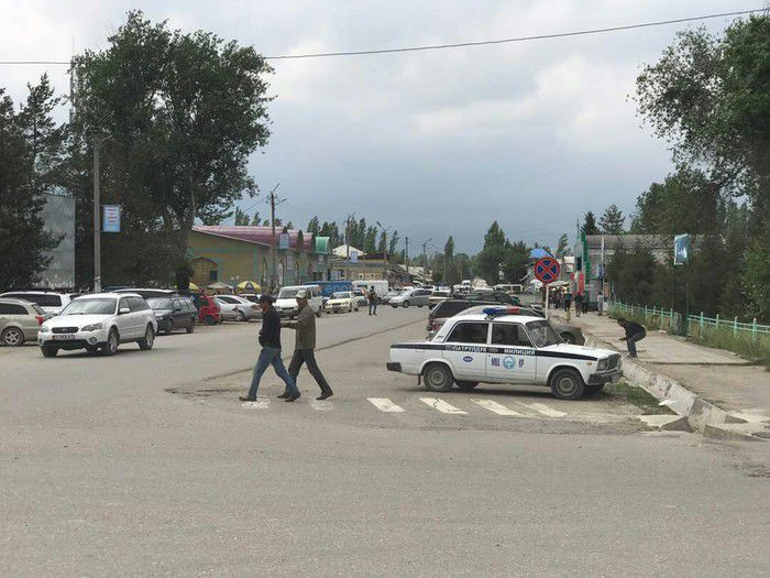 Патрулдук милиция Кербен шаарынын көчөлөрүн көзөмөлдөп жатат, - Жалал-Абад ОИИБ