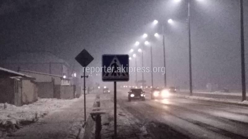 В Арча-Бешике пешеходный переход на Чортекова-Кен-Кол остался без освещения