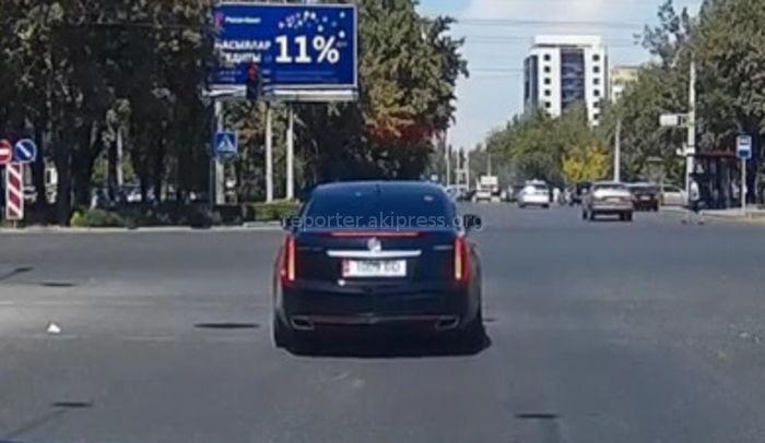 Правительственный «Кадиллак» грубо нарушил ПДД (видео)