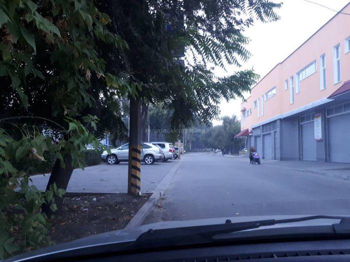 Законно ли СТО использует зеленую зону под парковку на Жибек Жолу — Молодой Гвардии? - бишкекчанин (фото)
