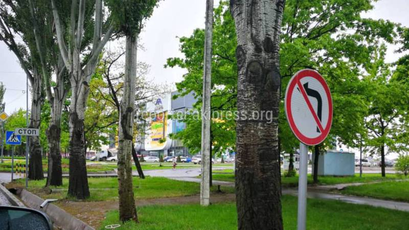 На Ч.Айтматова - Масалиева не видно знака запрещающий поворот налево (фото)